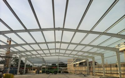 Warehouse structure completed in Brazzaville !